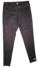 Womens Leggings C9 Champion Pants L Run Pilates Yoga Dark Purple Black Foil image 1