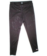 Womens Leggings C9 Champion Pants L Run Pilates Yoga Dark Purple Black Foil - $16.00
