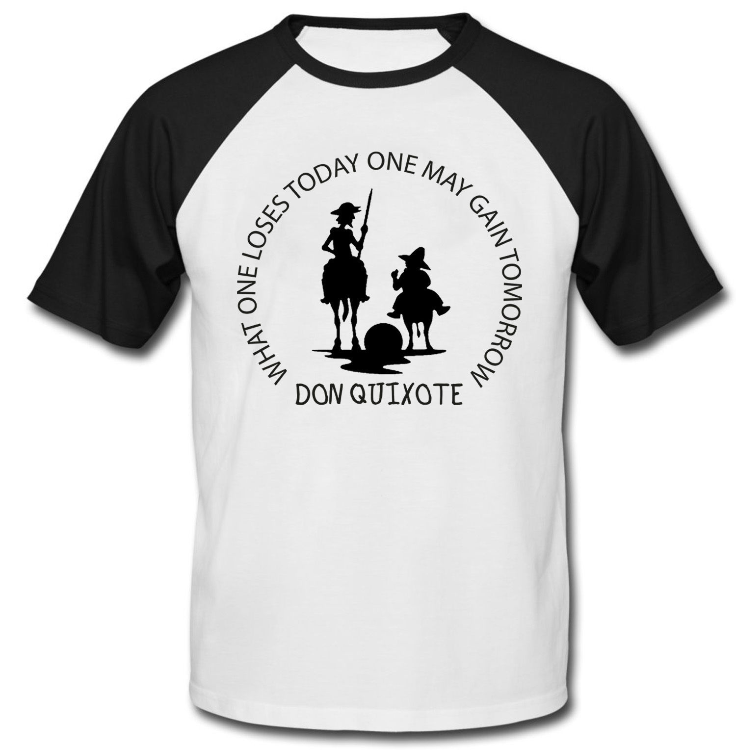 DON QUIXOTE MAY GAIN TOMORROW - NEW COTTON BASEBALL TSHIRT