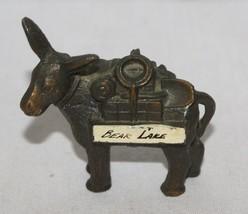 Vintage Bear Lake Copper Donkey Souvenir Utah Idaho Mule Burro Metal  2 ... - $9.99