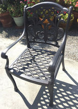 """11pc outdoor patio dining set Nassau chairs cast aluminum 46"""" x 120"""" table image 3"""