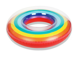 """Swim About Adult Giant Big Large Rainbow Swim Ring Tube 47"""" 120cm image 1"""