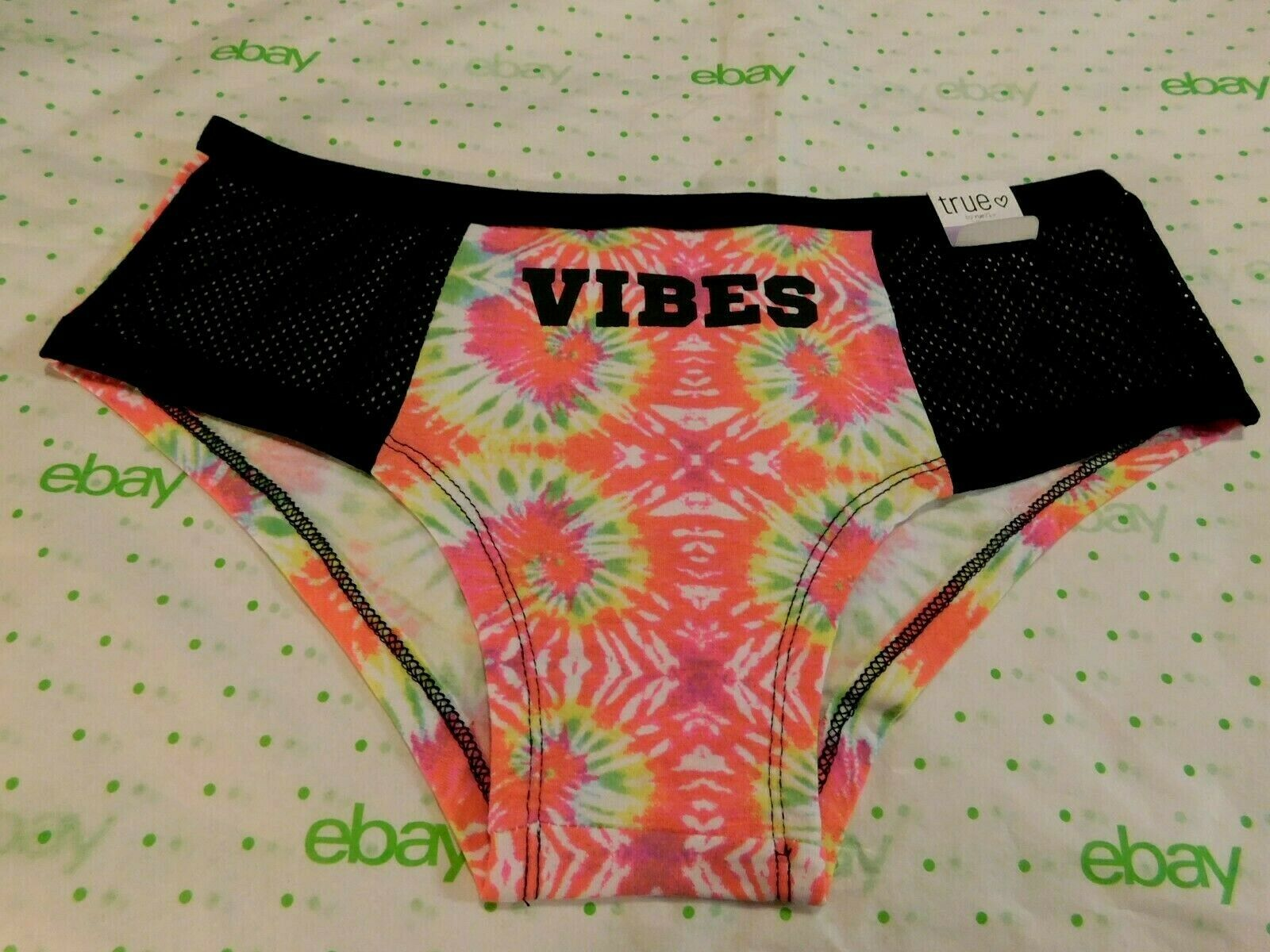 Primary image for Rue 21 Women's Cotton Boyshort Panties Size XS/SMALL Tie Dye Vibes Mesh Sides