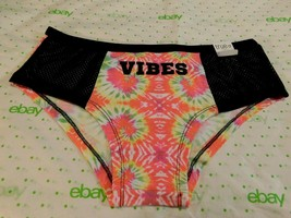 Rue 21 Women's Cotton Boyshort Panties Size XS/SMALL Tie Dye Vibes Mesh ... - $11.87