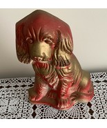 Vintage Carnival Chalkware Dog Cocker Spaniel Plastic Products Marked 1948 - $8.49