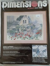 Dimensions No Count Cross Stitch Kit Rose Cottage New 1987 - $18.70