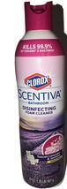 Clorox Scentiva Bathroom Foam Cleaner Bleach Free Surface Cleaner 1 Ea 20oz Can - $16.88