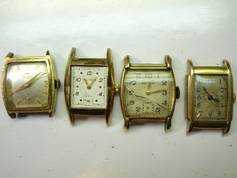 4 WALTHAM ART DECO DIAL CASE WATCHES FOR BALANCE RESTORATION OR PARTS 75... - $120.94