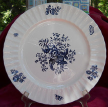 ROYAL WORCESTER BLUE SPRAYS DINNER PLATE S FLORAL - $29.44