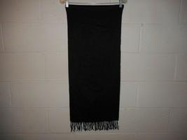 Vintage Black Christian Dior Monsieur Cashmaire Scarf 100% Acrylic - $9.99