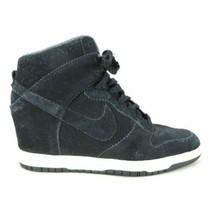 8 - NIKE Black Suede Leather DUNK SKY HI 528899-014 Wedge Sneaker Shoes ... - $46.00