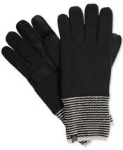 Isotoner Signature Women's smartDRI® Striped-Cuff Gloves (One Size, Black) - $24.67