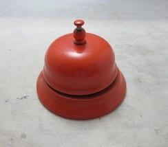 Vintage bright orange Hotel concierge desk bell - $13.99