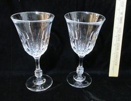 "2 Crystal Wine Glasses Glass Water Goblets Fostoria Stemmed 6 Oz 7 3/8"" - $15.83"