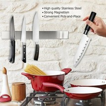 Magnetic Knife Bar 15 Inch Stainless Steel Extra Strong Magnet Knife Hol... - $15.83
