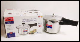 Prestige stainless steel pressure cooker 3 Liters induction + gas compat... - £66.89 GBP
