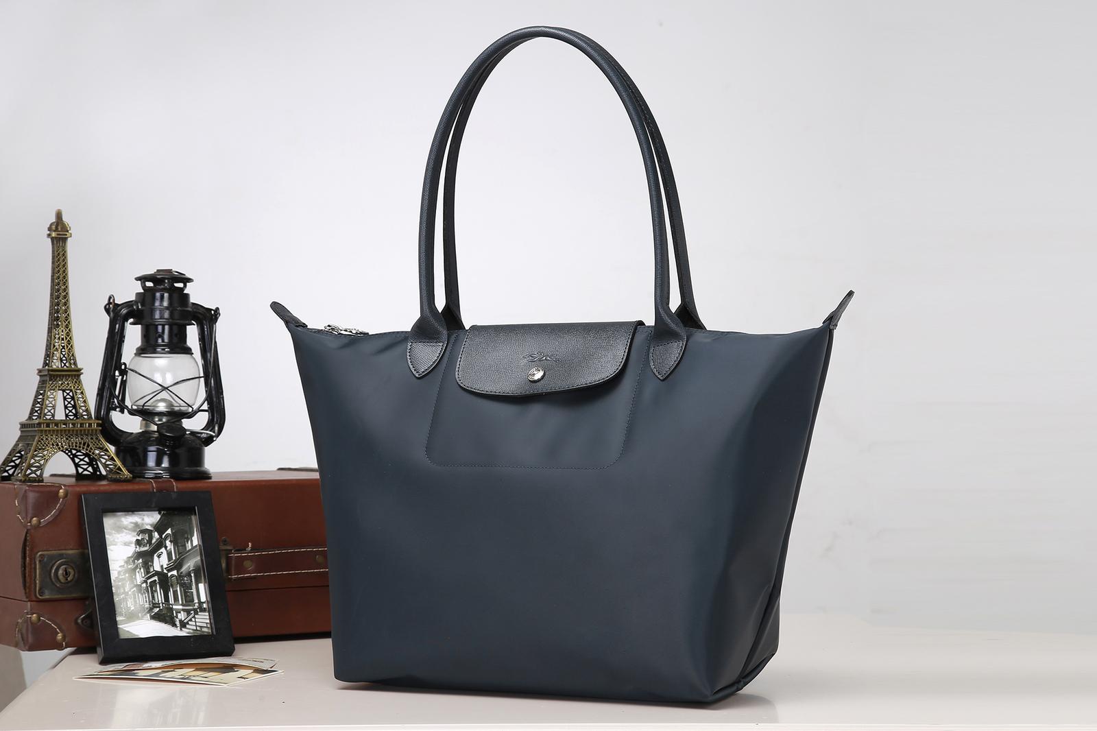4d6a28daf51f3 Longchamp le pliage handbag neo tote large grey graphite nylon new 4
