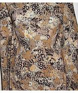 Earthtone Leopard Paisley Polyester Twill Lycra Stretch Fabric 1 Yard 18... - $32.00