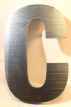 "6.25 "" Acryl Stahl-Ausführung Optik Industriell Buchstabe C .5 Dick 3d Schild - $8.62"