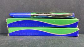 Lot of 2 Vintage NOS Avon Fine Line Eye Pens, Black/Plum, 0.025 Ounces Each - $5.90