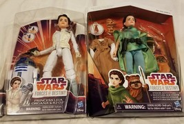 Lot 2 Forces Of Destiny Princess Leia Dolls Endor Adventure R2D2 Ewok St... - $52.91