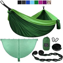Gold Armour Camping Hammock and Bug Net Set - (Double|Green & Lime Green) - $56.50