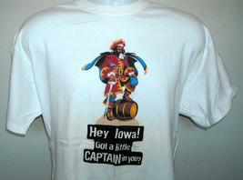 Mens Hey Iowa Got a Little Captain in You T Shirt Captain Morgan rum XL - $18.47