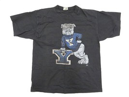 Ncaa Yale University Bulldogs Handsome Dan Graphic Men's T-Shirt 100% Cotton - $39.55