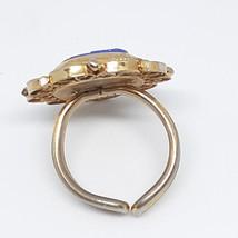 Micro Mosaic Ring Cobalt Royal Blue Vintage 40's - 50's image 3