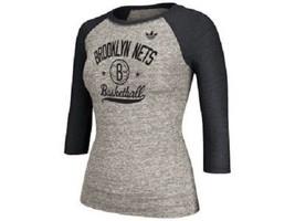 Brooklyn Nets NBA 4her adidas Raglan Tee - $16.78