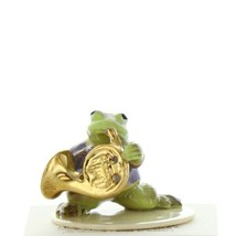 Hagen Renaker Miniature Frog Toadally Brass Band French Horn Ceramic Figurine