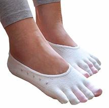 PANDA SUPERSTORE Womens [Afternoon Tea] Low Cut Five Toes Socks Five Fingers Ank
