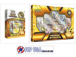 Pokemon Shining Legends Pikachu Pin Box and Pikachu EX Legendary Collect... - $94.50