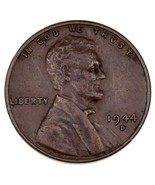 1944 D/S D Over S Lincoln Cent Extra Fine XF Condition, OMM #2, Brown Color - £46.20 GBP