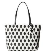 NWT Kate Spade Harding Street Black White Ikat Dot Small Riley Tote - $129.06