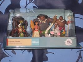 Disney Store Moana 6 piece Figure PlaySet Cake Topper Brand New. - $22.00