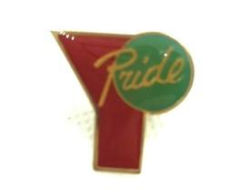 Vintage Pride Pin hat tie lapel pin red green lgbt - $9.89