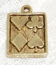 HEARTS, SPADES, CLUBS, DIAMONDS CARD FINE PEWTER PENDANT CHARM image 4