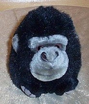"Puffkins Plush 5"" MAX Black & Gray Gorilla Monkey Needs Home - $4.44"