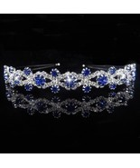 Princess Tiara Bridal Prom Crown Girl Elegant Hairbands Pearl Crystal We... - €6,95 EUR