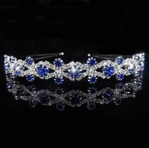 Princess Tiara Bridal Prom Crown Girl Elegant Hairbands Pearl Crystal We... - £5.99 GBP