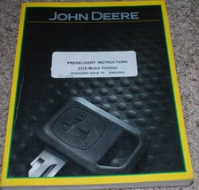 John Deere 2310 Mulch Finisher Predelivery Instructions PDIN332098 Issue F9 - $14.80