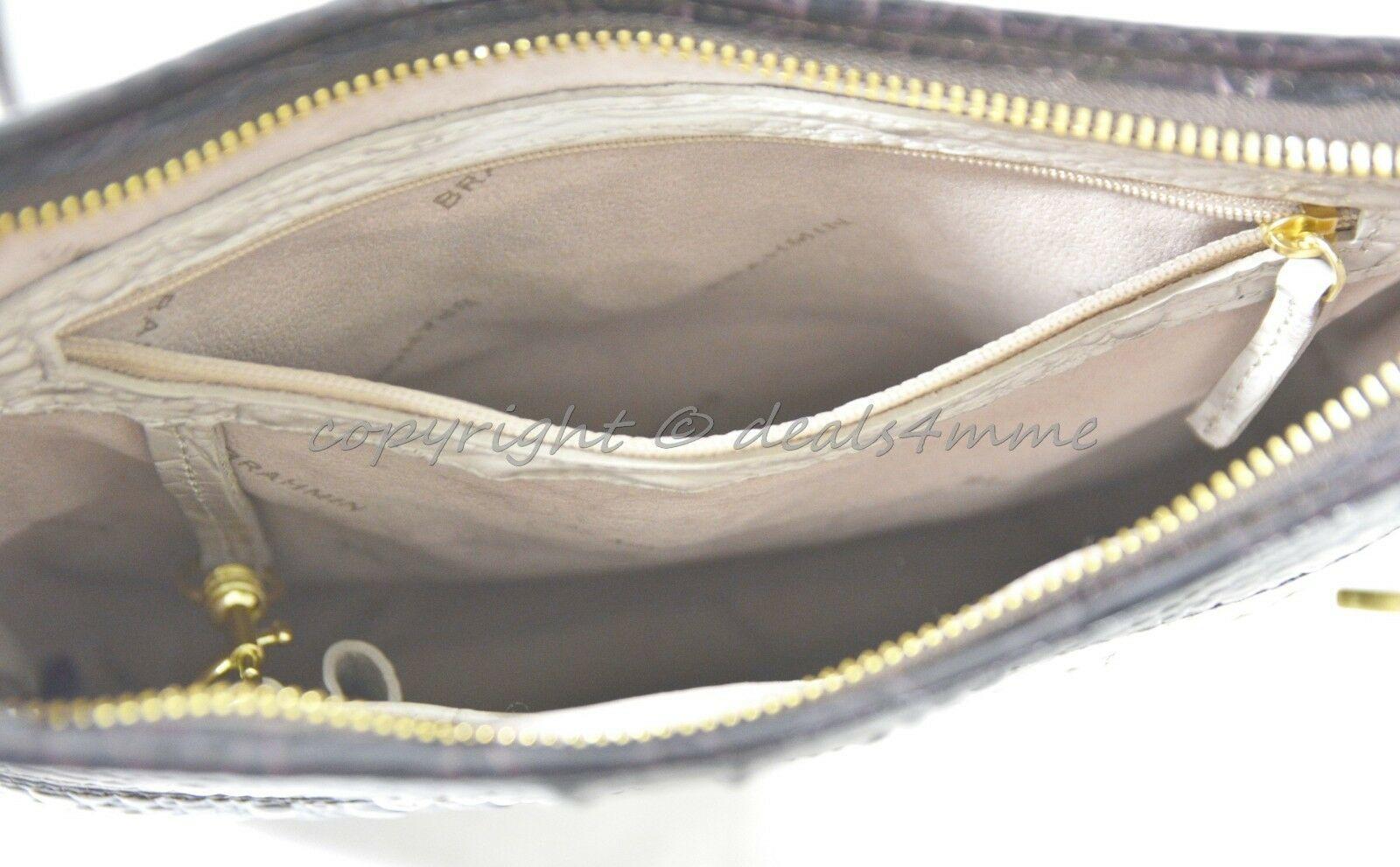NWT Brahmin Jody Striped Cross-Body/Shoulder Bag in Angora Vineyard image 8