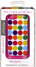 Macbeth Collection Snap on Case for apple iPod touch 5th gen rainbow gum... - $2.97