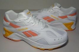 Reebok Size 12.5 M AZTREK Pop White Pink Gold Running Sneakers New Women... - $117.81