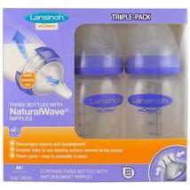 Natural Wave Nipple Bottles Medium Flow 3 Bottles - $50.00