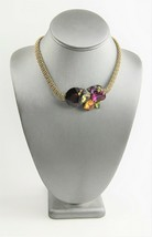 WENDY GELL DIRECT FROM ARTIST VINTAGE 80s SWAROVSKI CRYSTAL MESH CHAIN N... - $125.00