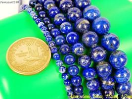 Natural Lapis Lazuli Gemstone Round Beads 15.5'' 2mm 3mm 4mm 6mm 8mm 10m... - $2.33+