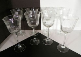 Cristal d'Arques Grand Meridian Ribbed Vertical Lines Water Goblet (s) LOT OF 8 - $39.55