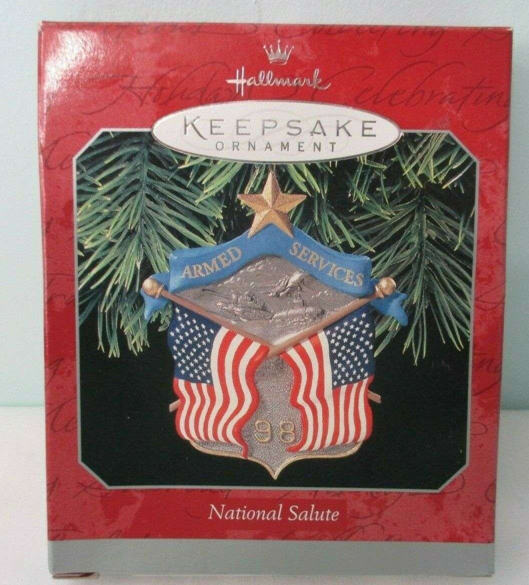 Primary image for National Armed Services Salute 1998 Hallmark Keepsake Ornament New in Box
